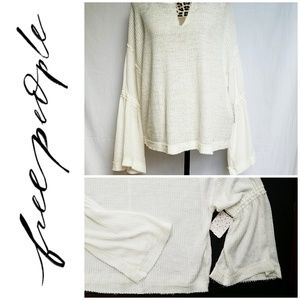 NWT Free People Oversized Peasant Blouse